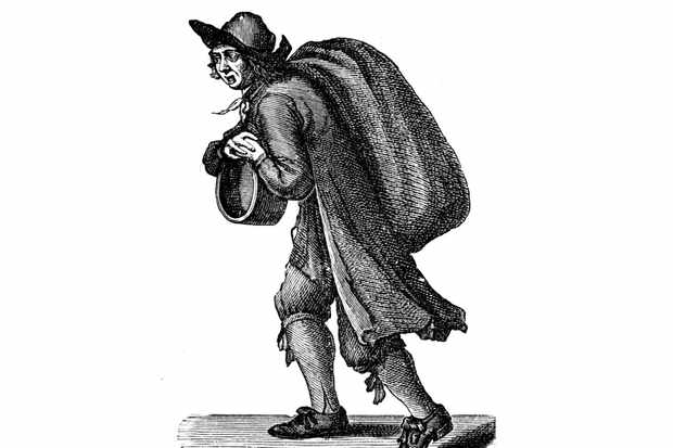 An etching of a 17th-century coal merchant. (Photo by Culture Club/Getty Images)
