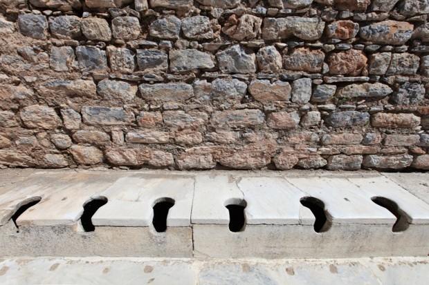 Photo of ancient public toilets