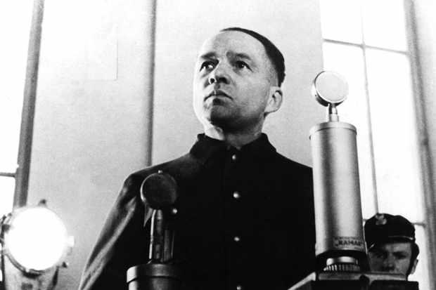 A photograph of Rudolph Hoess during his trial in Warsaw in 1947. (Photo by Keystone-France/Gamma-Keystone via Getty Images)