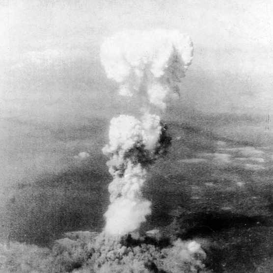 Aerial view of the mushroom cloud of smoke as it billows 20,000 ft. in the air, following the United States Air Force's detonation of an atomic bomb over the city of Hiroshima, Japan, August 6, 1945. (Photo by Time Life Pictures/US Army Air Force/The LIFE Picture Collection via Getty Images)