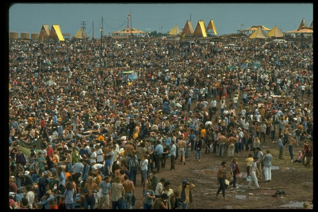The huge crowd at Woodstock Music and Arts Fair, 1969. (Photo by John Dominis/The LIFE Picture Collection/Getty Images)