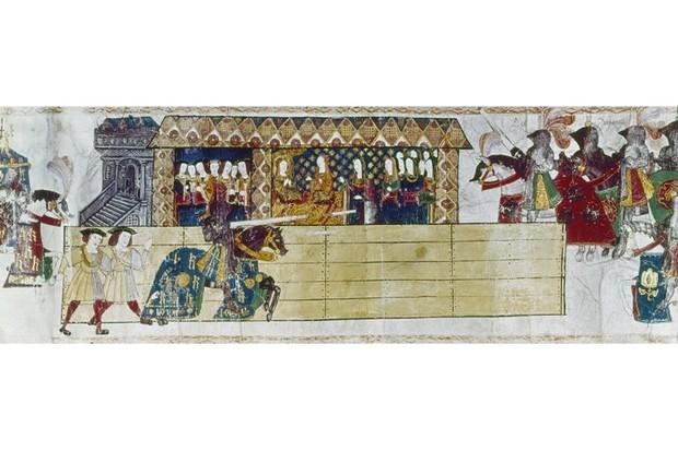 Henry VIII jousting
