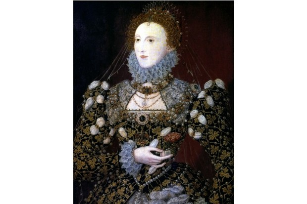 Elizabeth I, 1575. The Phoenix portrait attributed to Nicholas Hilliard. From the Tate Gallery, London. (Photo by Ann Ronan Pictures/Print Collector/Getty Images)