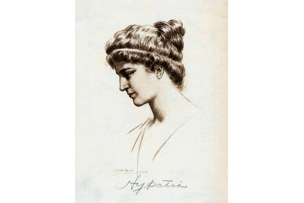 An undated portrait of Hypatia