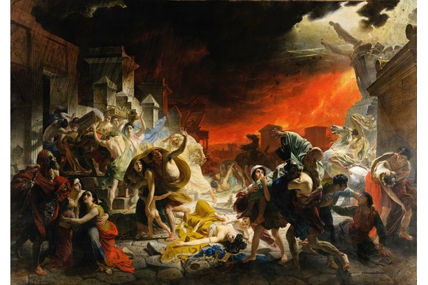 'The Last Day of Pompeii', as imagined by 19th-century Russian artist Karl Briullov. (Photo by VCG Wilson/Corbis via Getty Images)