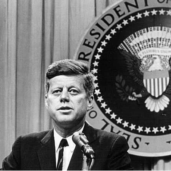 President John F Kennedy speaking at a press conference, c1963. (Photo by Hulton Archive/Getty Images/National Archive/Newsmakers)