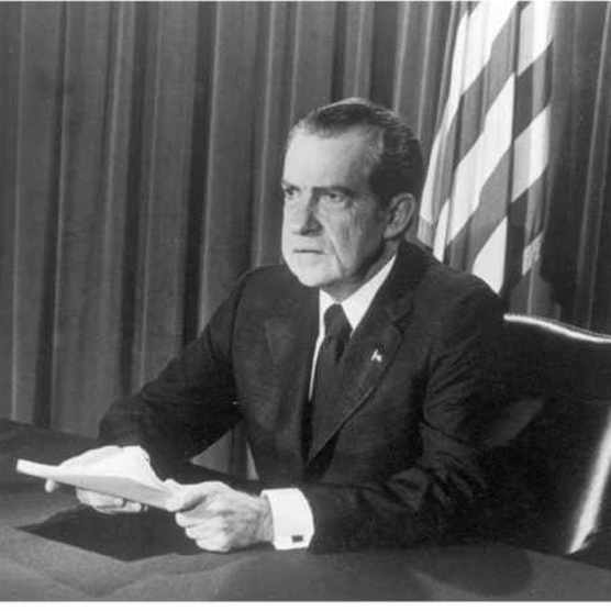 President Richard M Nixon. (Photo by Getty Images)