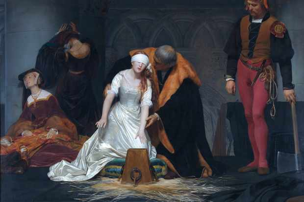 Lady Jane Grey's execution, as imagined by painter Paul Delaroche in 1833. (Photo by VCG Wilson/Corbis via Getty Images)