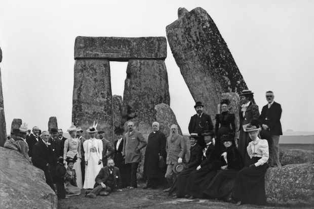 Tourists at Stonehenge