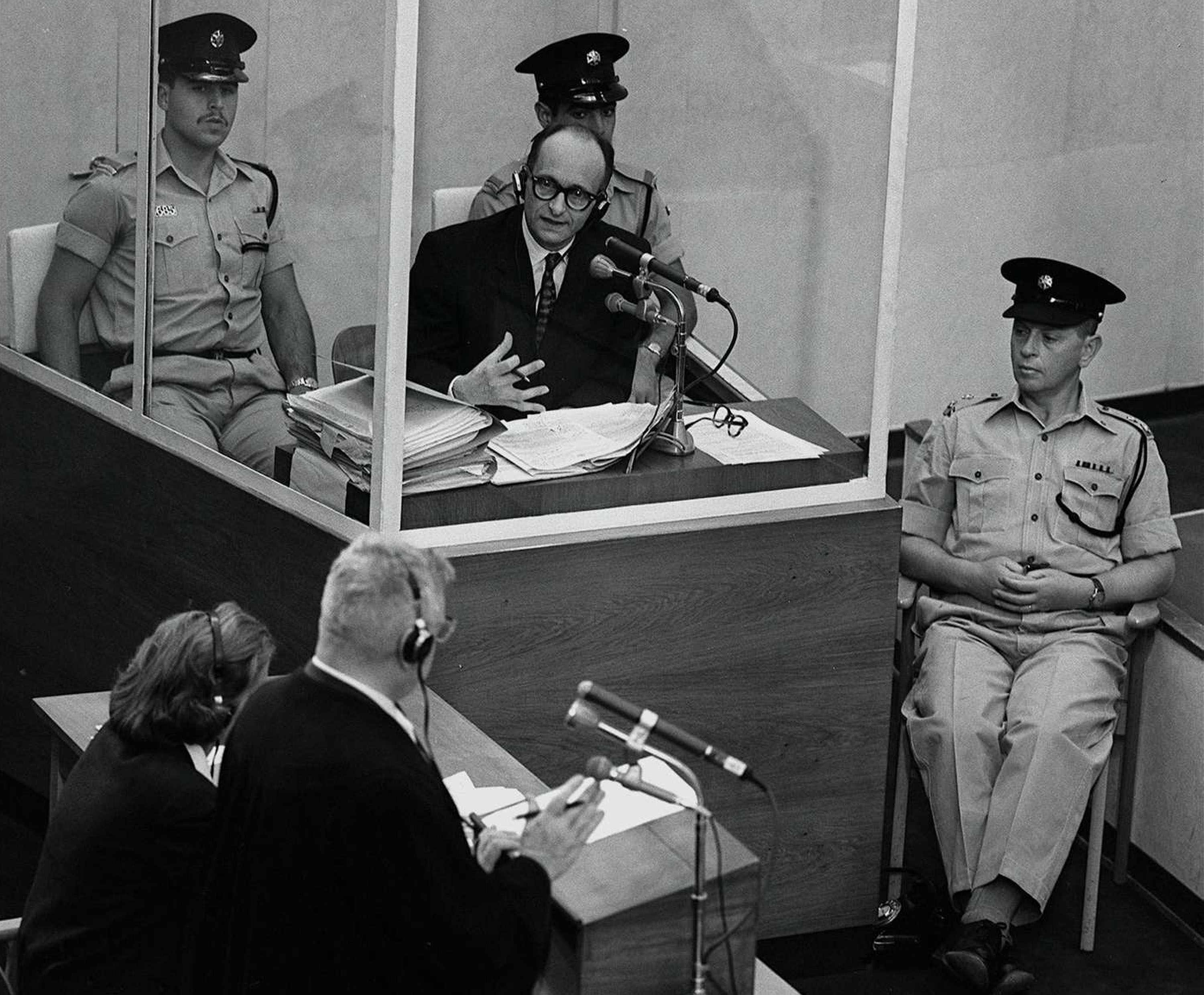 Adolf Eichmann during his trial in 1961