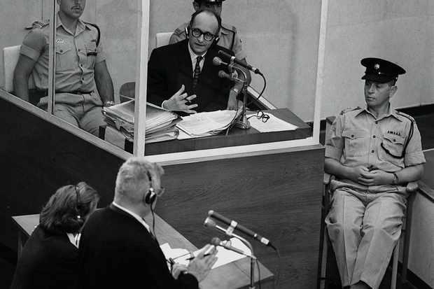 Adolf Eichmann during his trial in 1961