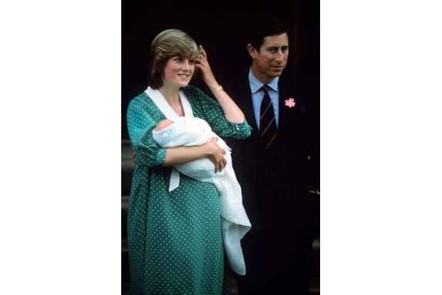 Princess Diana and Prince Charles with their newborn son Prince William on the steps of St Mary's Hospital, London, June 1982. (Photo by Jon Hoffman/Princess Diana Archive/Getty Images)