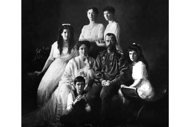The Romanovs, 1913: Nicholas II with his wife and children. (Photo by Universal History Archive/Getty Images)