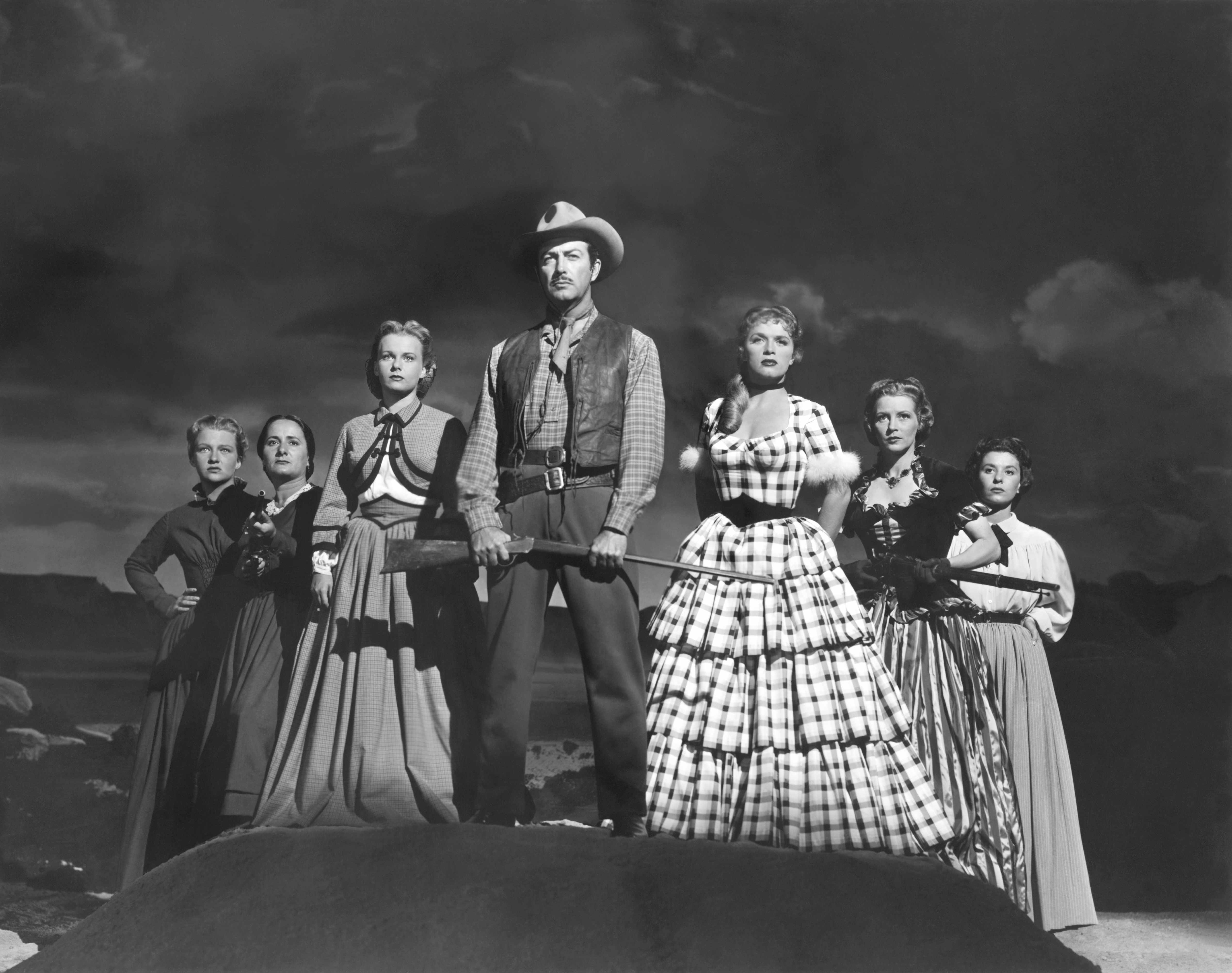 A still from the set of 'Westward the Women', directed by William A Wellman. (Photo by Metro-Goldwyn-Mayer Pictures/Sunset Boulevard/Corbis via Getty Images)