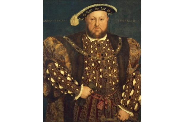 Henry VIII wearing the outfit worn for his marriage to Anne of Cleves. Painting by Hans Holbein the Younger. (DeAgostini/Getty Images)