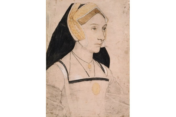Mary Shelton, after she married to become Lady Heveningham. By Hans Holbein the Younger. (Royal Collection Trust © Her Majesty Queen Elizabeth II/Bridgeman Images)