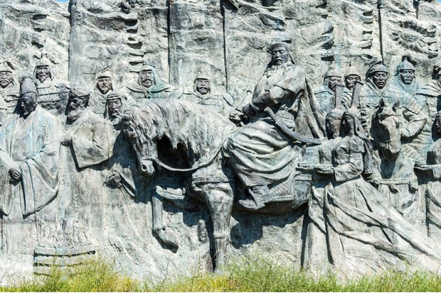 A relief at the World Heritage site of Xanadu in Inner Mongolia, China. (Photo by Dreamstime)