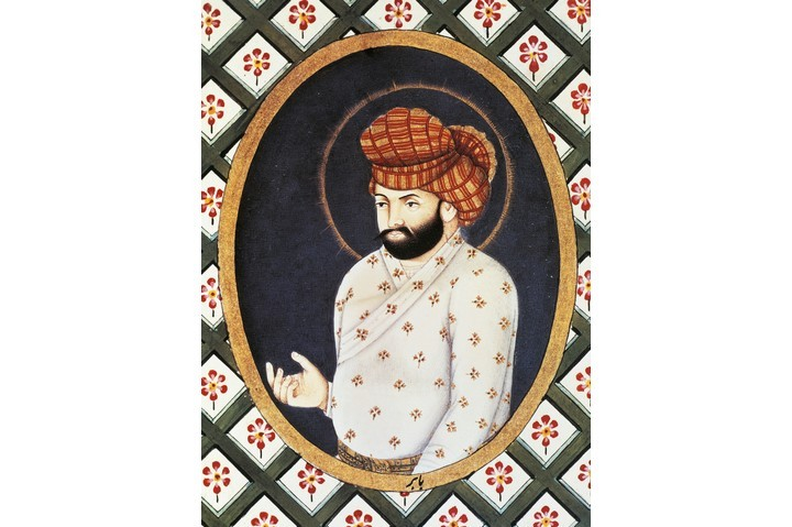 A portrait of Babur, founder of the Mughal dynasty which ruled over much of India from 1526 to 1858. (Photo by DeAgostini/Getty Images)
