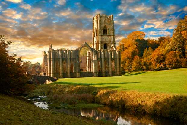 "The ruins of Fountains Abbey in North Yorkshire. Henry's motives when dismantling such monasteries ""were much more complex than pure revenge or pure avarice alone"", says Adam Morton. (Photo by Getty Images)"