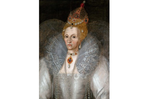 A portrait of Queen Elizabeth I painted by Marcus Gheeraerts the Younger. (Photo by Universal History Archive/UIG via Getty Images)
