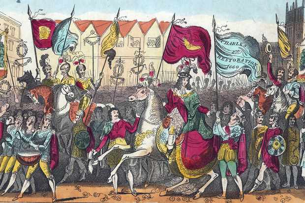 Charles II entering London in May 1660 following the restoration of the monarchy. (Photo by Photo12/UIG via Getty Images)