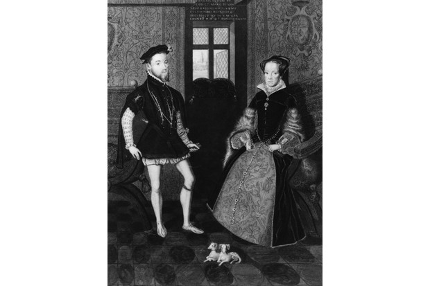 An engraving by Joseph Brown of Philip II and Mary I, also known as Bloody Mary