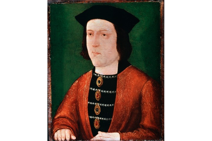 A portrait of Edward IV, the first Yorkist king of England. From the National Portrait Gallery. (Photo by Ann Ronan Pictures/Print Collector/Getty Images)