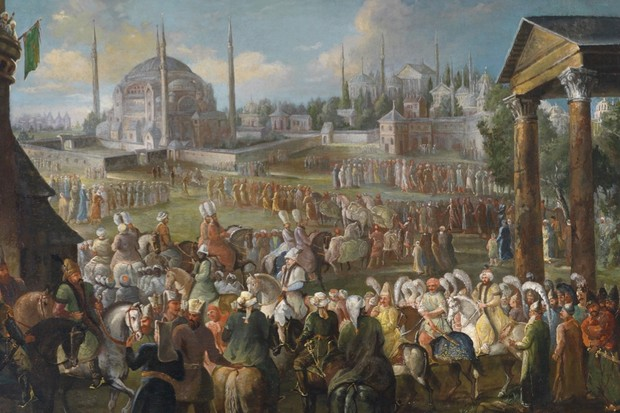 A sultan rides through Istanbul – at its height, the Empire ruled over more than 15 million subjects