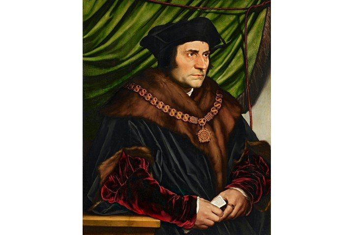 A portrait by Hans Holbein the Younger of Sir Thomas More, 1527. (Photo by VCG Wilson/Corbis via Getty Images)