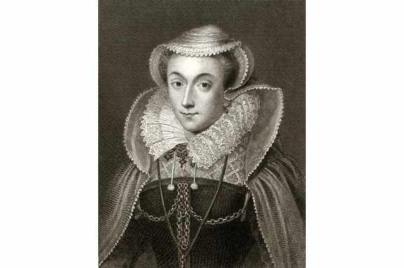 Engraved portrait of Mary, Queen of Scots. (Smith Collection/Gado/Getty Images).