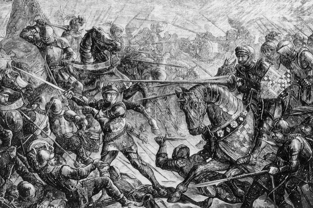The battle of Towton during the War of the Roses, 1461. (Photo by Hulton Archive/Getty Images)
