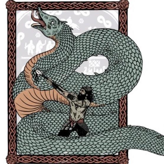 Ragnar Lothbrok. (Illustration by Georgie Gozem for BBC History Magazine)