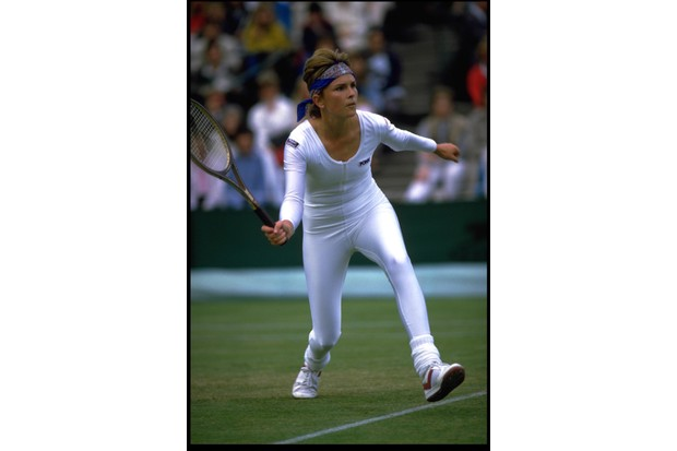 Anne White chose to wear a white lycra bodysuit during the 1985 Championships (Getty Images/Stringer)