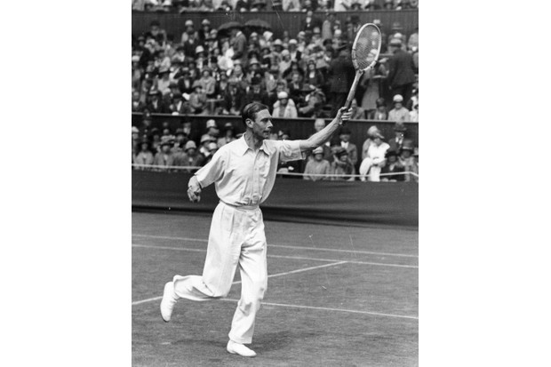 The Duke of York, later King George VI, playing at the Wimbledon tennis championships in 1926