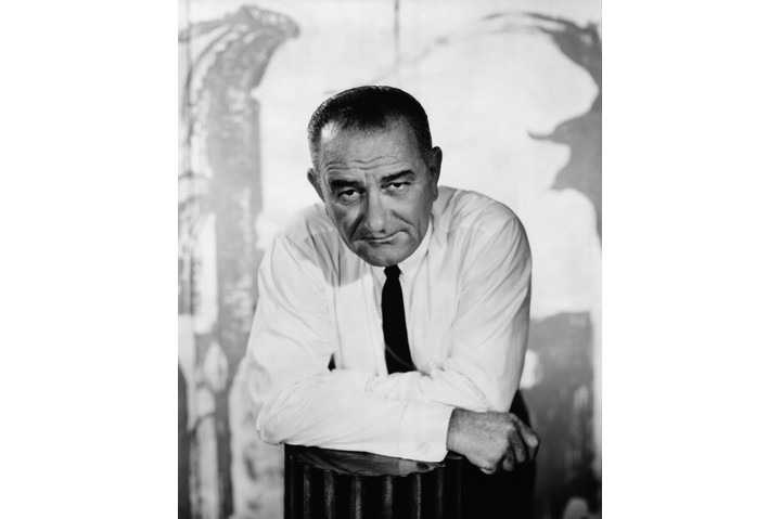 Lyndon B Johnson, the 36th president of the United States. (Photo by Bettmann/Contributor/Getty Images)