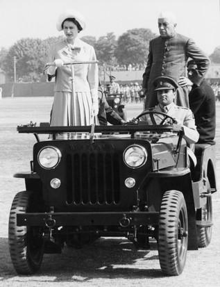 Queen Elizabeth II in Delhi, India, 1961