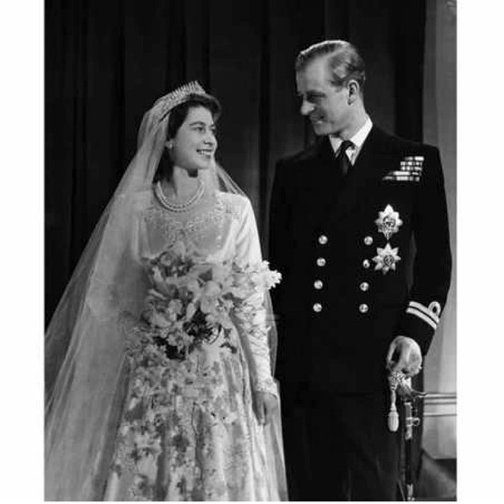 Princess Elizabeth, later Queen Elizabeth II, with her husband Philip, Duke of Edinburgh, after their marriage in 1947. (Photo by Corbis via Getty Images)