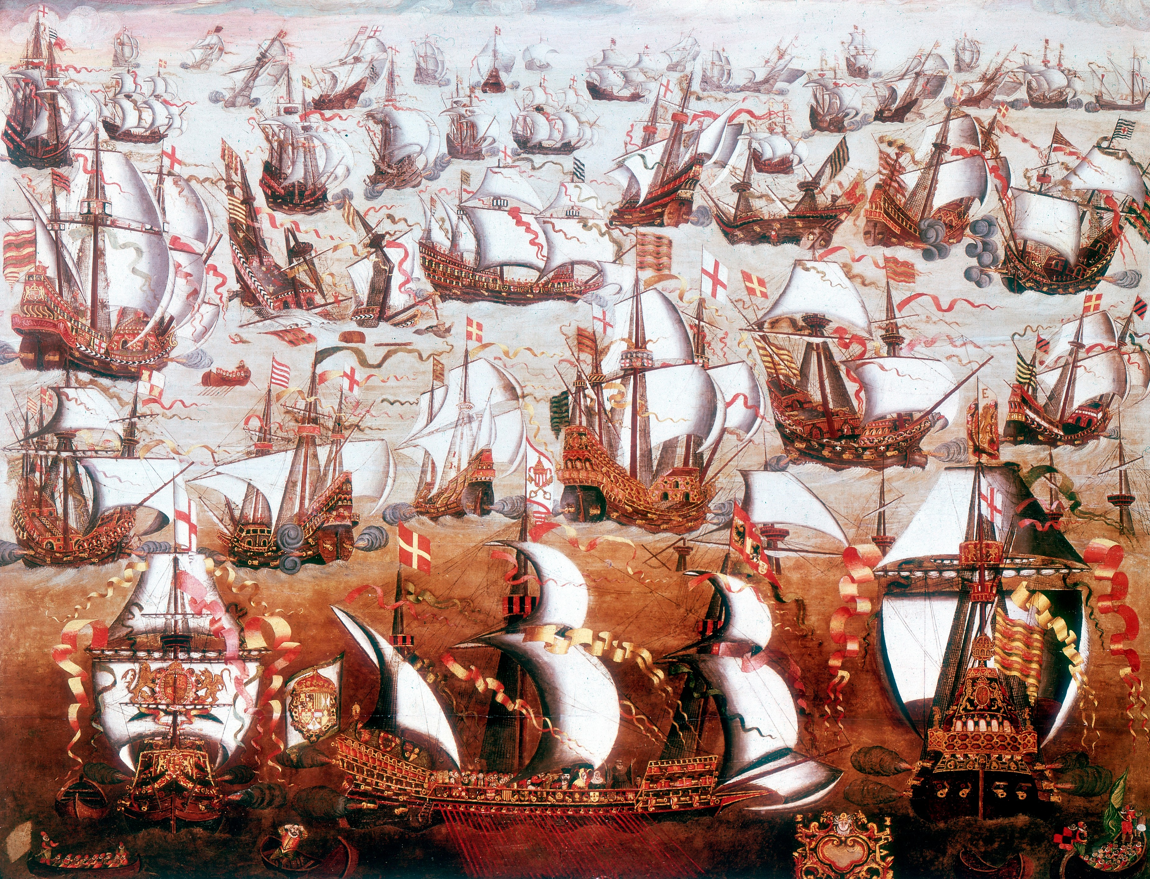 The Spanish Armada: Tudor spin portrayed the events of August 1588 as a glorious English victory but, argues Robert Hutchinson, bad weather and bad tactics had more to do with the Spanish fleet's failure than Elizabethan derring-do. (Ann Ronan Pictures/Print Collector/Getty Images)