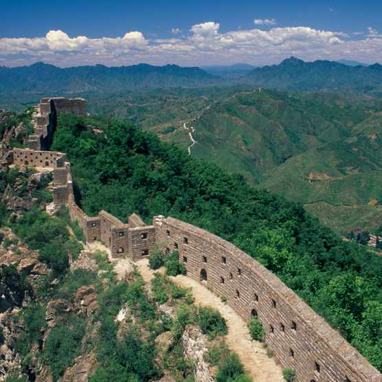 A thin section of the Great Wall of China near Beijing