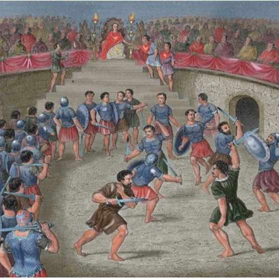 Despite popular misconception, Gladiatorial fighting was not the most popular entertainment in Ancient Rome. (Photo by Alamy)