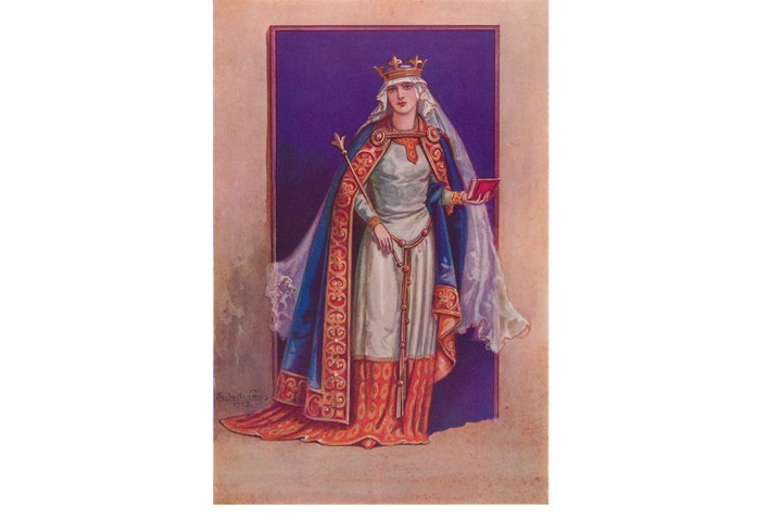 Matilda (circa 1031-1083) was Queen Consort of William the Conqueror. (Photo by The Print Collector/Getty Images)