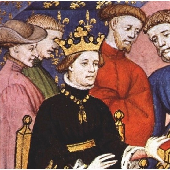 Charles VI of France (1380–1422) and his court. Charles sealed a treaty with Owain Glyndˆwr in July 1404, sending troops to help the Welsh cause. However, despite marching through south Wales, Charles's troops headed home without engaging the English in a major battle. (Photo by Getty Images)