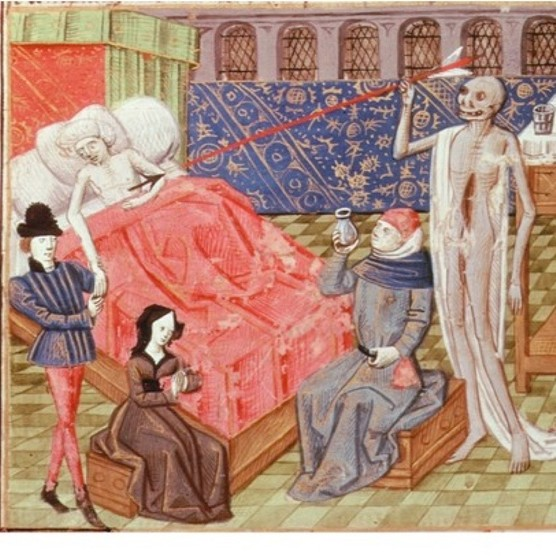 Dying well; tears and sorrow on the death of a youth. Treasury of Wisdom, 15th century. (© The Art Archive/Alamy)