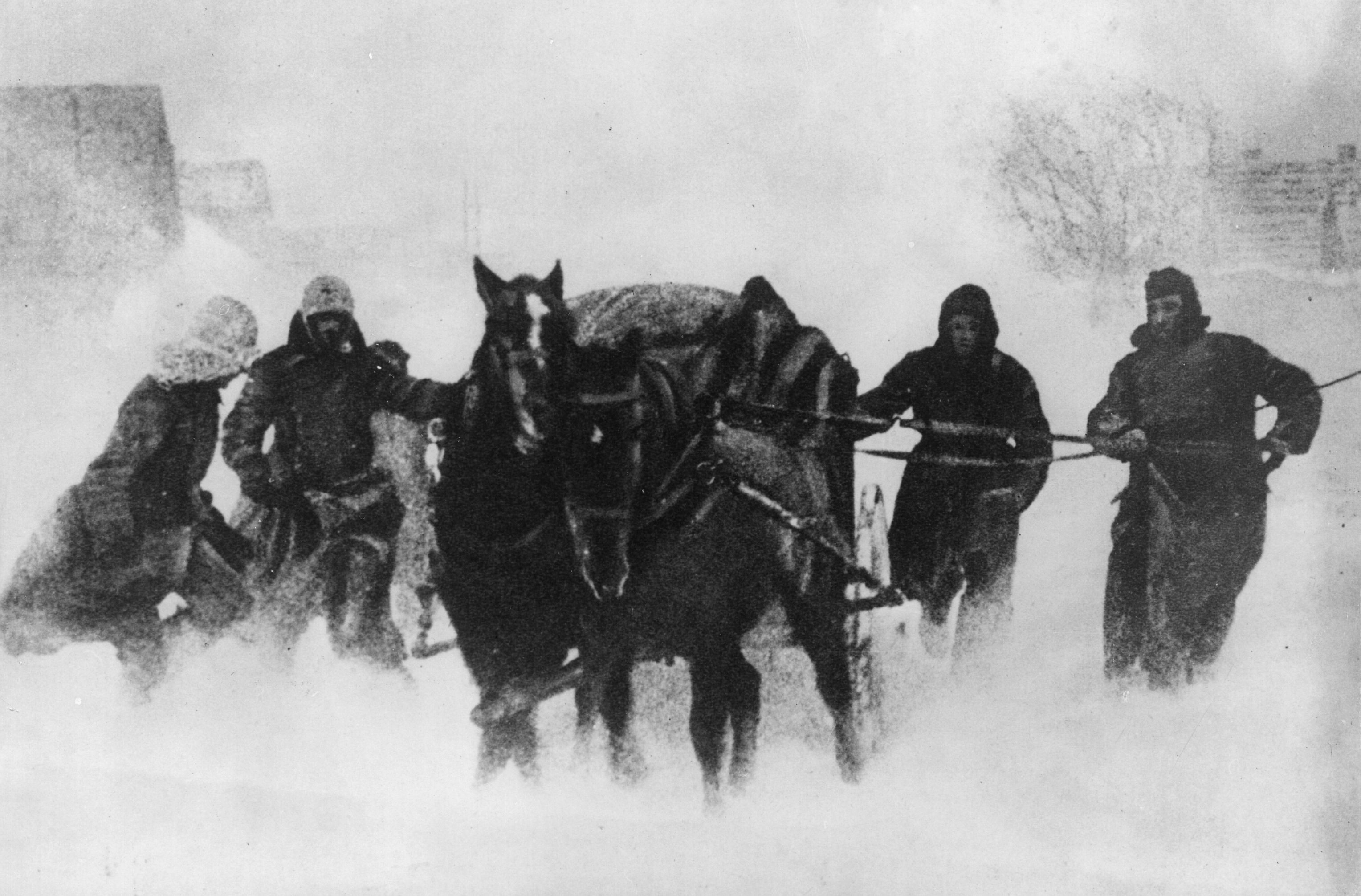 German soldiers with a horse-drawn cart during the retreat from Ukraine in 1943. The idea of Teutonic efficiency was a triumph of Nazi spin, says James Holland. (Keystone/Getty Images)
