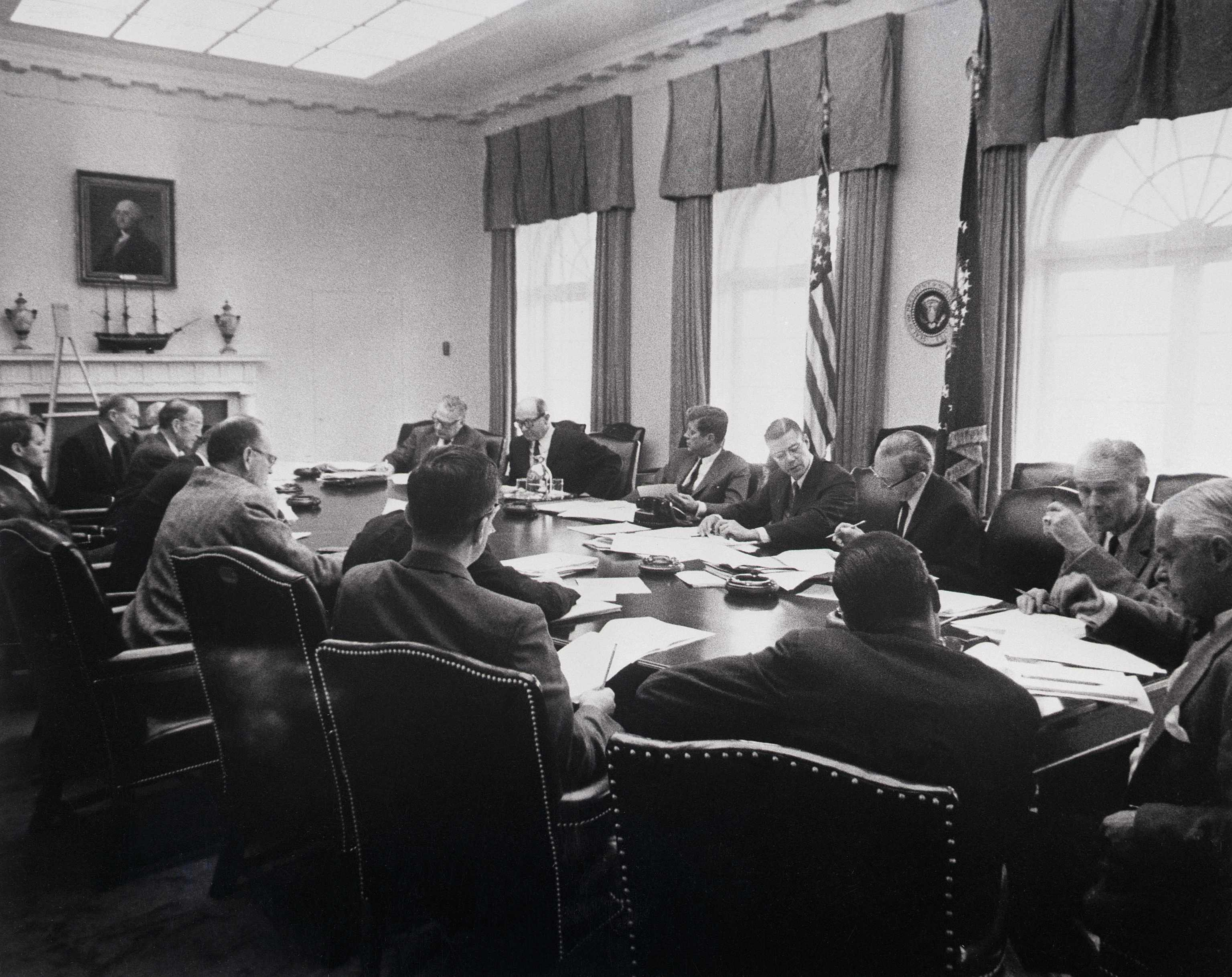President Kennedy Meeting With Cabinet Officers