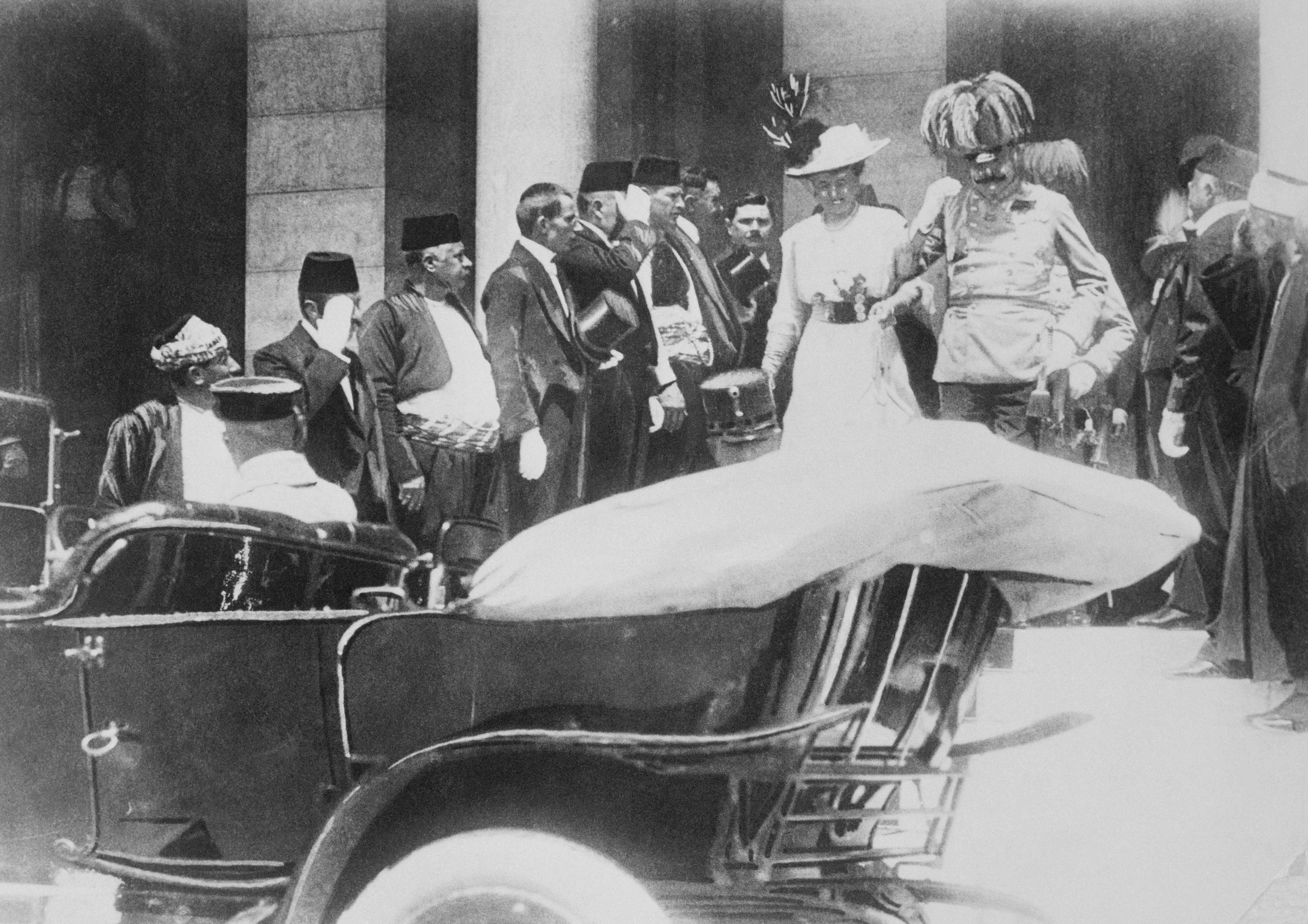 The assassination of Austrian crown prince Franz Ferdinand and his wife Sophie, both pictured here, triggered the start of the First World War. (Getty Images)