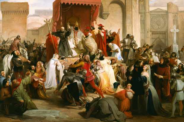 """Pope Urban II's address at the Council of Clermont, the moment that triggered the First Crusade, has gone down as perhaps the most influential speech in history,"" writes Sandbrook. (Fine Art Images/Heritage Images/Getty Images)"