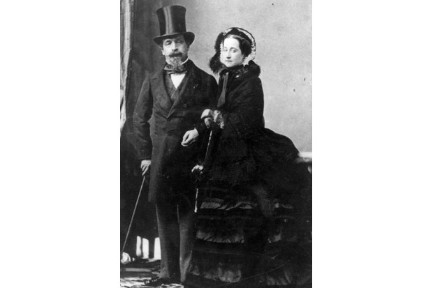 France's Emperor Napoleon III and Empress Eugénie. They are pictured here in around 1870, while they were living in exile in England. (Photo by Hulton Archive/Getty Images)