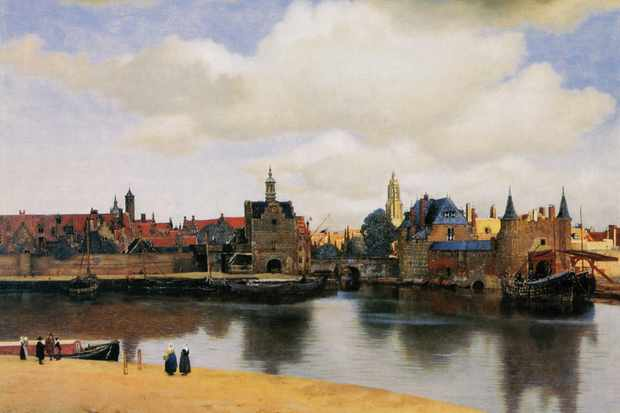 Johannes Vermeer's 'View of Delft', 1661. (Photo by Buyenlarge/Getty Images)