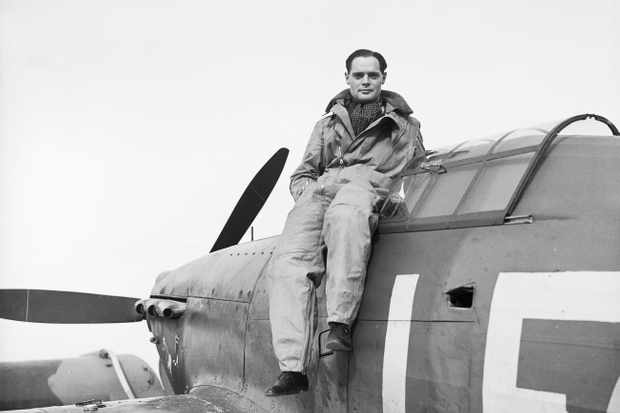 "Douglas Bader in October 1940. ""He was competitive, unruly, foolhardy – but also brilliant, brave and hugely talented,"" says David Cameron. (Photo by Fg Off S A Devon/IWM via Getty Images)"